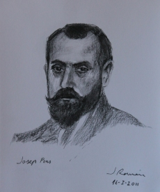 Josep Pons. Lápiz compuesto 25 x 20 cm 2011